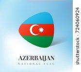 azerbaijan flag ribbon banner... | Shutterstock .eps vector #724060924