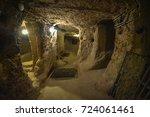 the derinkuyu underground city... | Shutterstock . vector #724061461