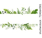 vector floral greenery card... | Shutterstock .eps vector #724064581