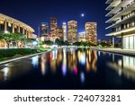 downtown los angeles... | Shutterstock . vector #724073281