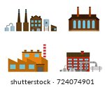 set of production industrial... | Shutterstock .eps vector #724074901