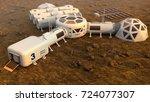 mars planet satellite station...   Shutterstock . vector #724077307