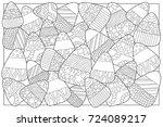 candy corn sweets vector... | Shutterstock .eps vector #724089217