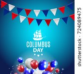 vector illustration of columbus ...   Shutterstock .eps vector #724089475