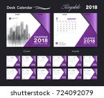set desk calendar 2018 template ... | Shutterstock .eps vector #724092079
