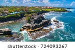 tanah lot   temple in the ocean.... | Shutterstock . vector #724093267