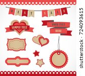 vector stickers  banner  label. ... | Shutterstock .eps vector #724093615