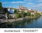 basel switzerland with the... | Shutterstock . vector #724103077