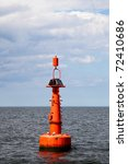 the red buoy in the baltic sea. | Shutterstock . vector #72410686