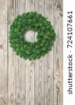 Christmas Wreath Decoration On...