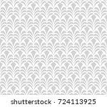 vector floral art nouveau... | Shutterstock .eps vector #724113925