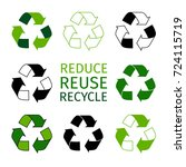 reduce reuse recycle logotype... | Shutterstock .eps vector #724115719