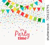 fun carnival garlands with... | Shutterstock .eps vector #724115791