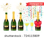 champagnes party elements.... | Shutterstock .eps vector #724115809