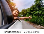 young asian thai boy  travel by ... | Shutterstock . vector #724116541