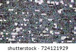 glitch background. computer... | Shutterstock .eps vector #724121929