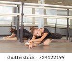 ballet class  girl ballerina... | Shutterstock . vector #724122199