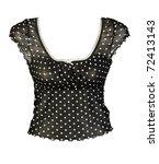 black women's blouse isolated... | Shutterstock . vector #72413143