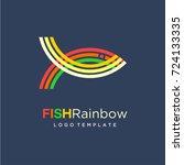 Rainbow Fish Logo Design...