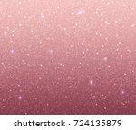 rose gold glitter background... | Shutterstock .eps vector #724135879