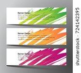 web banner design background... | Shutterstock .eps vector #724142395