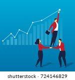 teamwork | Shutterstock .eps vector #724146829