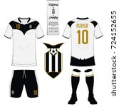 soccer jersey or football kit ... | Shutterstock .eps vector #724152655