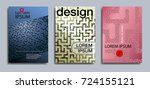 a set of minimal cover designs. ... | Shutterstock .eps vector #724155121