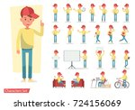set of men character vector... | Shutterstock .eps vector #724156069