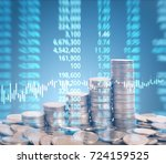graph coins stock finance and... | Shutterstock . vector #724159525