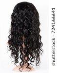 loose wavy black human hair...   Shutterstock . vector #724166641