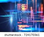 programming code abstract... | Shutterstock . vector #724170361