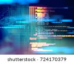 programming code abstract... | Shutterstock . vector #724170379