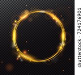 shining circle frame with light ... | Shutterstock .eps vector #724176901