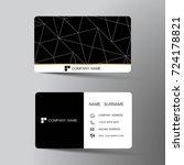 modern business card template... | Shutterstock .eps vector #724178821