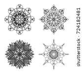 chakra concept set.... | Shutterstock . vector #724182481