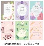 wedding invitation card... | Shutterstock .eps vector #724182745