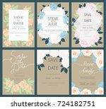wedding invitation card... | Shutterstock .eps vector #724182751
