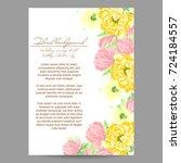 romantic invitation. wedding ... | Shutterstock .eps vector #724184557