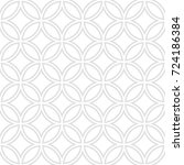 seamless pattern of circles and ... | Shutterstock .eps vector #724186384