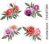 illustration of beautiful...   Shutterstock . vector #724187284