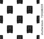 wagon  single icon in black...   Shutterstock .eps vector #724188235