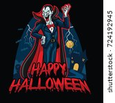 halloween design of dracula | Shutterstock .eps vector #724192945