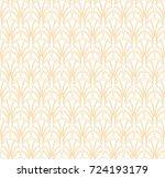 vector floral art nouveau... | Shutterstock .eps vector #724193179
