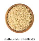 brown rice isolated on white | Shutterstock . vector #724209529
