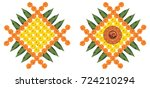 vector flower rangoli for... | Shutterstock .eps vector #724210294