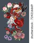 japanese tattoo design full... | Shutterstock .eps vector #724216669