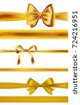 set of golden bows on white.... | Shutterstock . vector #724216951