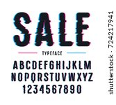 decorative sanserif font with... | Shutterstock .eps vector #724217941
