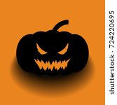 halloween vector illustration... | Shutterstock .eps vector #724220695